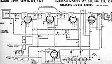 emerson models 507 509 518 522 535 chassis model 120005 september 1947 radio news rf cafe