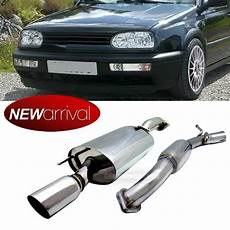 for golf 3 gti vr6 t 304 stainless steel 4 quot tip catback