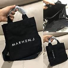 jual tas branded mrhn 01 black full murah kwalitas tas import pwshoponline