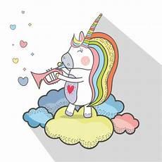 einhorn malvorlagen kostenlos spielen sch 246 nes einhorn spielen trompeteninstrument premium vektor