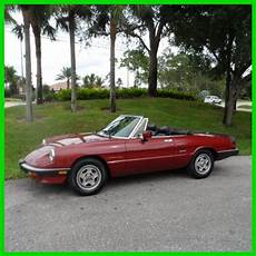 vehicle repair manual 1993 alfa romeo spider instrument cluster 1989 alfa romeo spider convertible veloce used classic 89 5sp manual air leather for sale