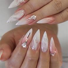 ombre babyboomer acrylic full set with a touch of marble
