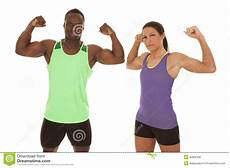 fitness male and female man an woman fitness flex stock photo image of beautiful