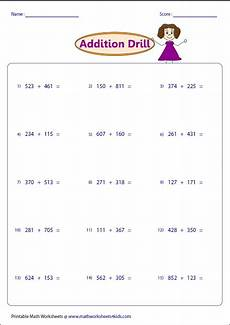 digits vertical addition with regrouping 3 digit addition worksheets