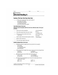 holt science and technology directed reading a answer key holt rinehart and winston inc