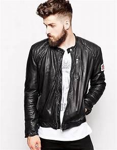 pepe pepe leather jacket new lennon slim fit biker