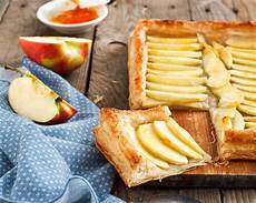 apple tart with puff pastry recipe open pie by archana s kitchen