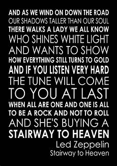 stairway to heaven lyrics stairway to heaven led zeppelin word typography words song lyric lyrics ebay