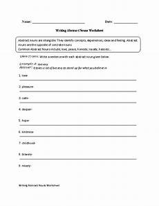 writing with abstract nouns worksheet