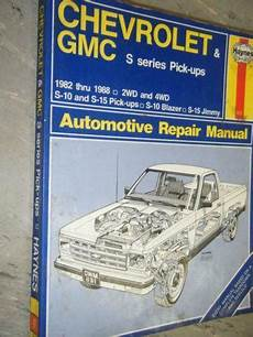 how to download repair manuals 1992 chevrolet s10 seat position control s10 service manual ebay