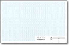 personalized isometric grid pads tabloid size 4th scale