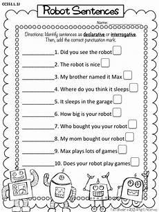 writing question sentences worksheets 22220 types of sentences declarative interrogative freebie grade grammar