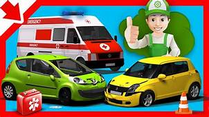 Car Accident For Children Handy Andy Cartoon