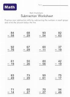 3rd grade math worksheet subtraction borrowing 2 3 or 4 digits mixed operator worksheets fourth grade
