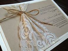 diy rustic country themed lace wedding invitations diy