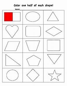 halving shapes worksheet eyfs 1106 58 best images about maths fractions on cool cut and paste and activities