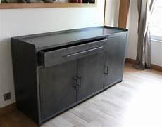 bahut buffet vaisselier meuble en metal sur mesure