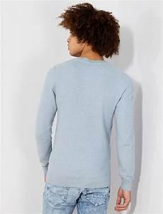pull pale homme pull l 233 ger en coton homme bleu gris p 226 le kiabi 7 50