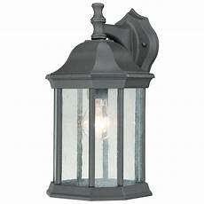 philips hawthorne 1 light black outdoor wall lantern sl94527 the home depot