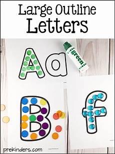 printable large letter outlines prekinders