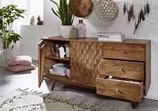 sideboard akazie sideboard akazie 145x42x75 natur lackiert mosayk 106