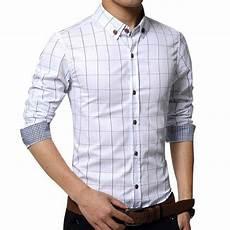 chemise homme elegance classique fitted carreaux blanc