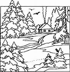 Malvorlagen Landschaften Gratis Gratis Haus Mit Rauch Ausmalbild Malvorlage Landschaften