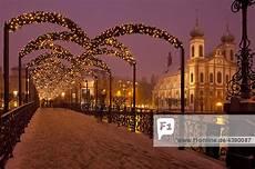 abends advent beleuchtung br 252 cke kanton luzern schnee