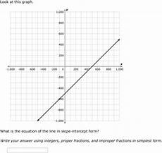 ixl slope intercept form write an equation from a graph algebra 1 practice