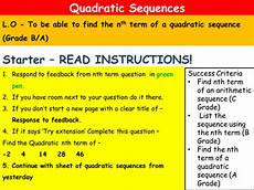 nth term of quadratic sequences with cubic ext by dr185 teaching resources tes