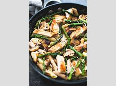 garlic chicken with asparagus and mushrooms_image