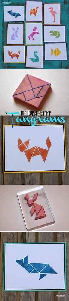 Tangram Kinder Malvorlagen Tutorial Tangram Rubber Sts Diy Bastelideen Selbstgemachte