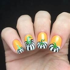 monochrome pumpkin nail art polished inka