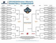 2019 ncaa women s basketball bracket printable tournament pdf ncaa com