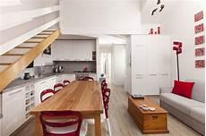 cucina e sala da pranzo salotto con cucina a vista e zona pranzo moderno sala