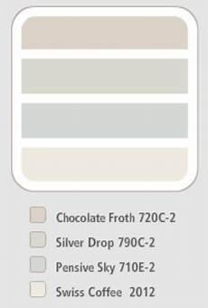 behr colour scheme chocolate froth silver drop