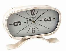 shabby chic aged crosskeys table clock mantel clocks