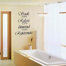 Bathroom Wall Decal Quote Soak Relax Unwind Rejuvenate