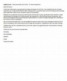 email cover letter format sle 6 exles in word pdf