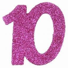 Confettis Anniversaire 10 Ans Fuchsia Paillet 233 Les 6