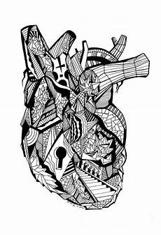 24 of the most creative free adult coloring pages kenal louis drawings human heart drawing