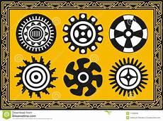 Indianische Muster Malvorlagen Xing Set Alte Indianische Muster Vektor Abbildung