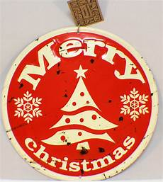 merry christmas vintage inspired distressed round tree decor sign santa dragonfly whispers