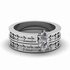 cross engraved marquise cut solitaire wedding ring in 14k white gold fascinating diamonds