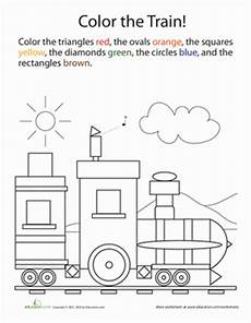 colors shapes worksheets 12808 color by shape worksheet education
