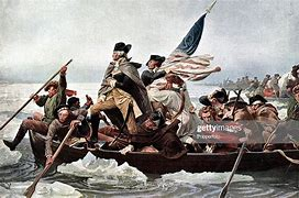 Image result for george washington in a boat on the Potomac river