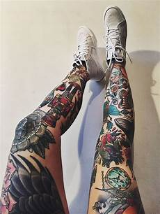 22 awesome leg sleeve tattoos designbump