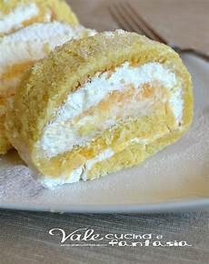 rotolo con crema pasticcera rotolo gelato con panna e crema pasticcera pasticceria idee alimentari ricette