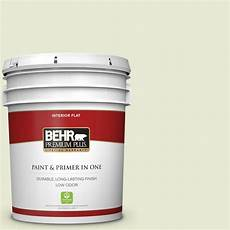 behr premium plus 5 gal 410e 2 celery ice flat low odor interior paint and primer in one