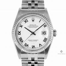 mens rolex datejust stainless steel white